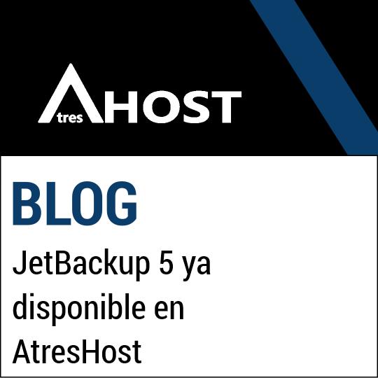 JetBackup 5 ya disponible en AtresHost