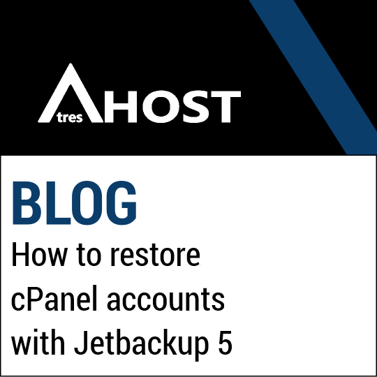 How to restore cPanel accounts with Jetbackup 5