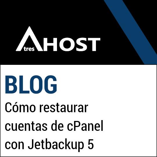 Cómo restaurar cuentas de cPanel con Jetbackup 5